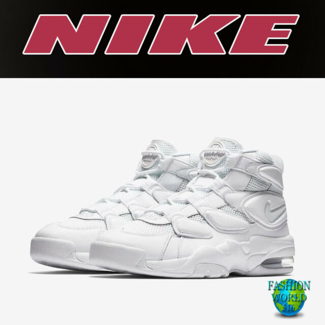 84f63b97d27a3b NIKE MEN S SIZE 9.5 AIR MAX2 UPTEMPO 94 TRIPLE WHITE BASKETBALL SHOE 922934  100