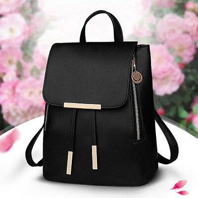 Fashion Women Girls Ladies Backpack Travel Shoulder Bag Rucksack PU Leather UK