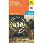 Glen Shee & Braemar, the Cairnwell & Glas Maol by Ordnance Survey (Sheet map, folded, 2015)