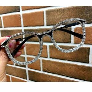 Rhinestone-cat-eye-glasses-women-retro-vintage-bling-eyewear