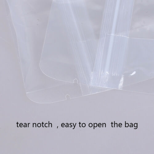 4x7.75in Clear Glossy Mylar Gusset Side Stand Up Zip Lock Bag//Desiccant C01