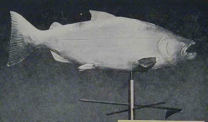 Copper Weathervane Fish Shaped HowTo build PLANS SALMON