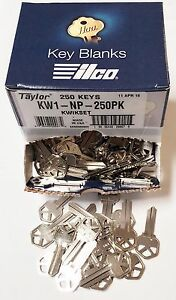 Taylor-KW1-Nickel-Key-Blanks