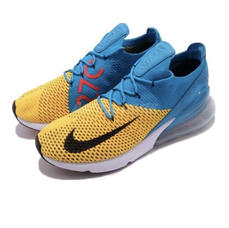 Mens Nike Air Max 270 Flyknit AO1023-800 Laser orange Black Brand New Size 10