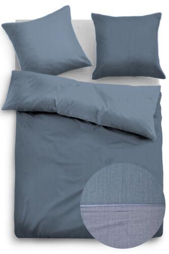 Tom Tailor baumwollsatin linge de lit 69940-843 Bleu 100/% Coton 135 x 200 cm
