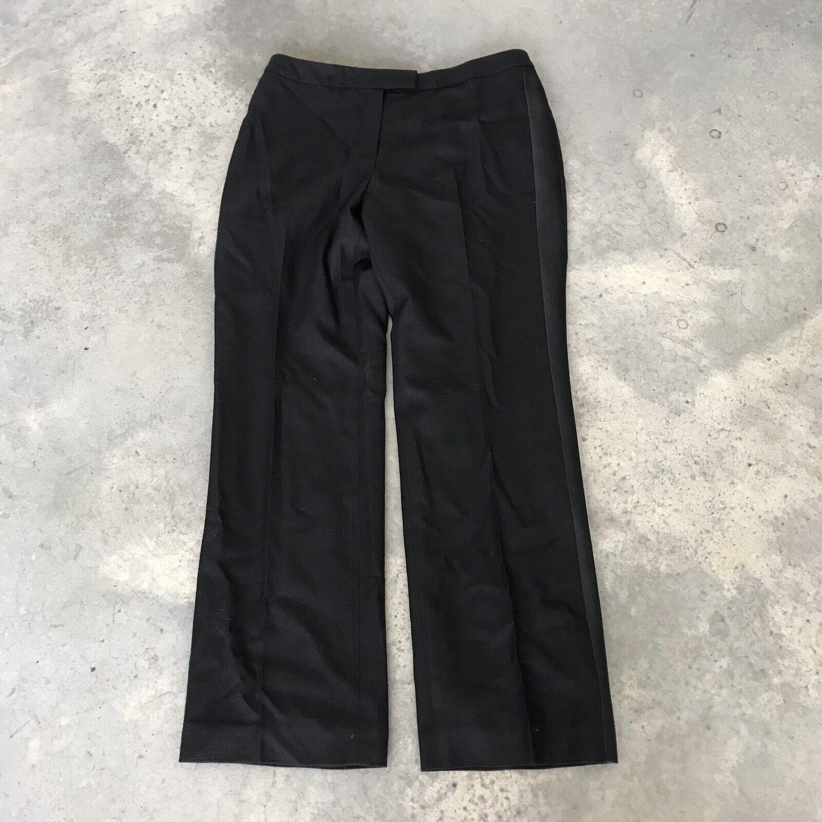 346 Brooks Brothers 100% Wolle damen Trouser Kleid Tuxedo Trousers Sz 12