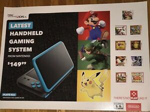 Details about Nintendo 2DS XL Super Mario Zelda GAMESTOP VIDEO GAME PROMO  POSTER 36