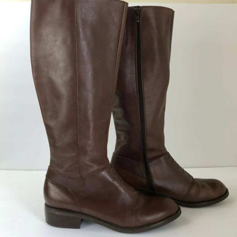 Conscientious Seychelles Womens Brown Leather Riding Side Zipper Boots 10 Careful Calculation And Strict Budgeting