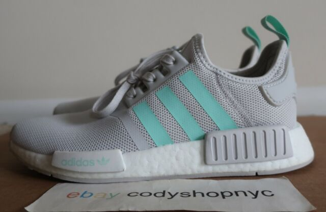 DS Adidas NMD R1 J Grey Mint size 7 junior kids youth running shoes boost D96689