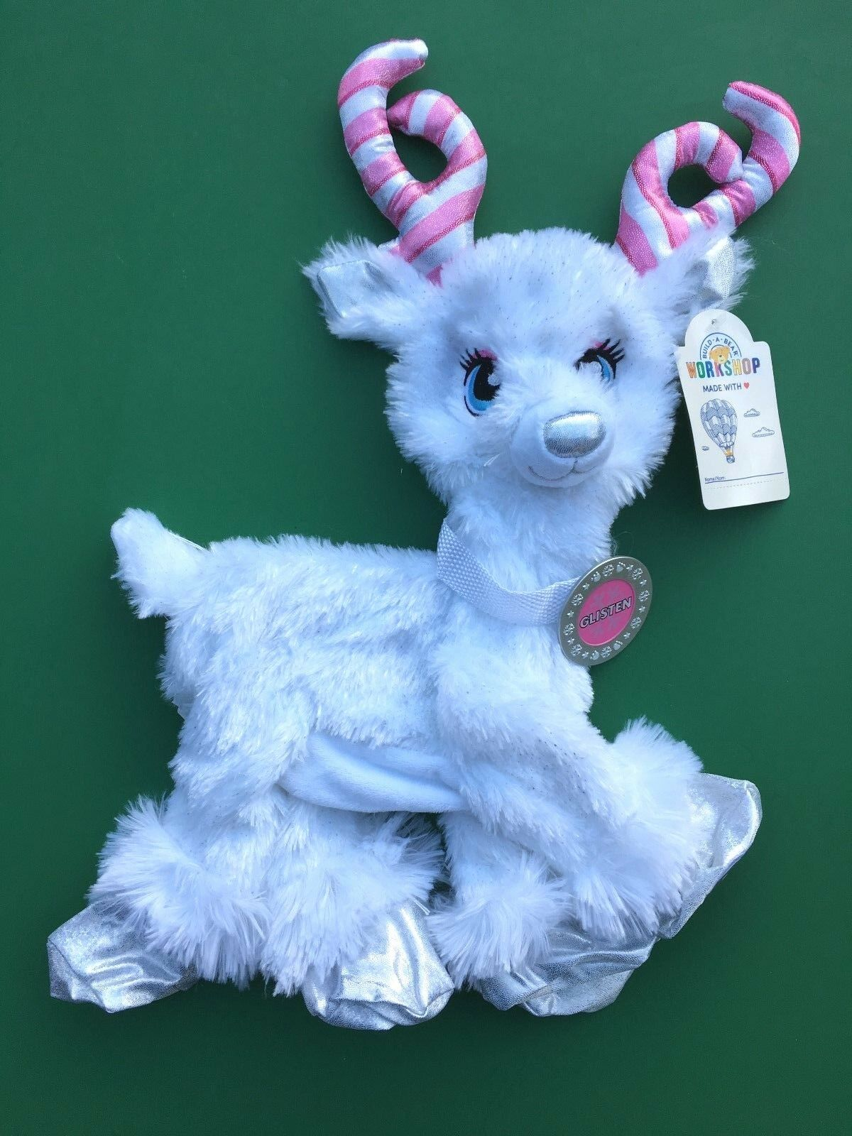 Build a Bear 15  2018 Candy Cane Glisten Reindeer Plush Toy - Unstuffed - NWT
