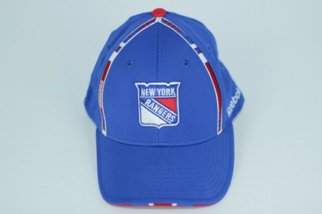 New York Rangers Hat Cap Reebok Center Ice NHL Stretch Fit Size Small-Medium 25cb4524e9d