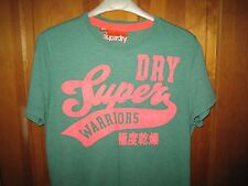 Unworn Mens Washed Out Green Style Heavy Cotton Superdry T Shirt - Marked MEDIUM