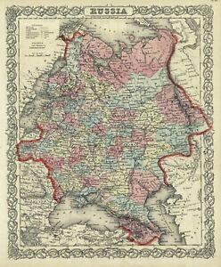 """1860 Colton's  """"Russia"""" (European)"""
