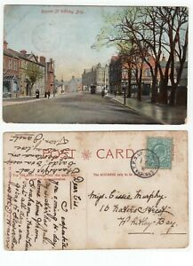 Great-Britain-EASTERN-TPO-UP-cancel-on-1904-KEV11-postcard-to-WHITLEY-BAY