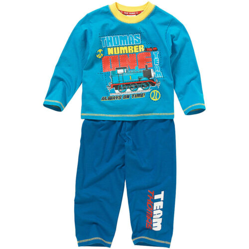 Thomas /& Friends Number One Team Print Boys Long Sleeve Leg Cotton Pyjamas Blue