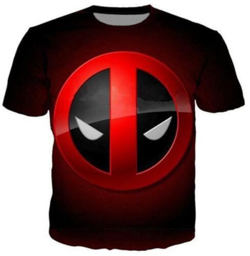 2019 Mens//Womens Deadpool Funny 3D T-Shirt Print Casual Short Sleeves Tops Tee