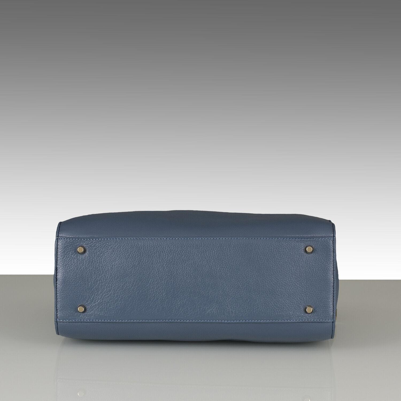 B-WARE BELUCIA OVADA HANDTASCHE LARGE WEICHES KALBSLEDER BIFarbe BLAU BLAU BLAU | Fairer Preis  424801