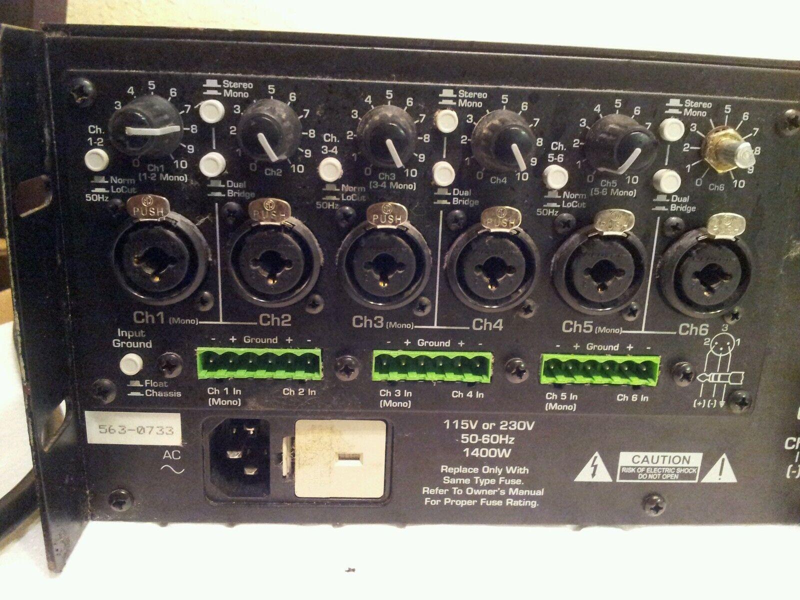 ASHLY Powerflex 6250 6250 6250 Six Channel Amplifier TESTED 32539e