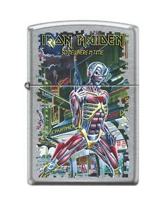 Zippo 3380 Iron Maiden Street Chrome Finish Full Size Lighter