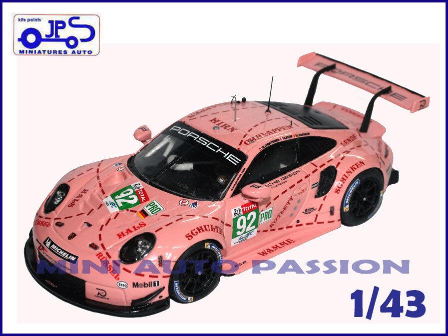 consegna gratuita e veloce disponibile Kit JPS Prépeint - Porsche  991 991 991 RSR -  Le uomos 2018 - n°92  negozio d'offerta