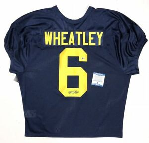 Image is loading TYRONE-WHEATLEY-SIGNED-MICHIGAN-WOLVERINES-BLUE-REPLICA- JERSEY- 19a7589fe