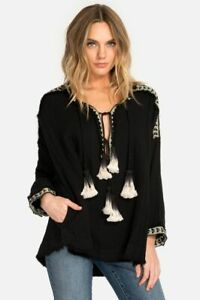 Pete-amp-Greta-Johnny-Was-Med-Embroidered-Gauze-Blouse-Boho-Chic-New-P16418