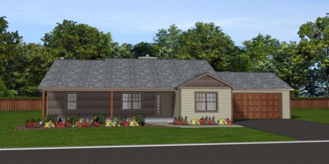 Custom Home House Plan 1 866 SF Blueprints W/full Bsmt & Attached Garage  #1322