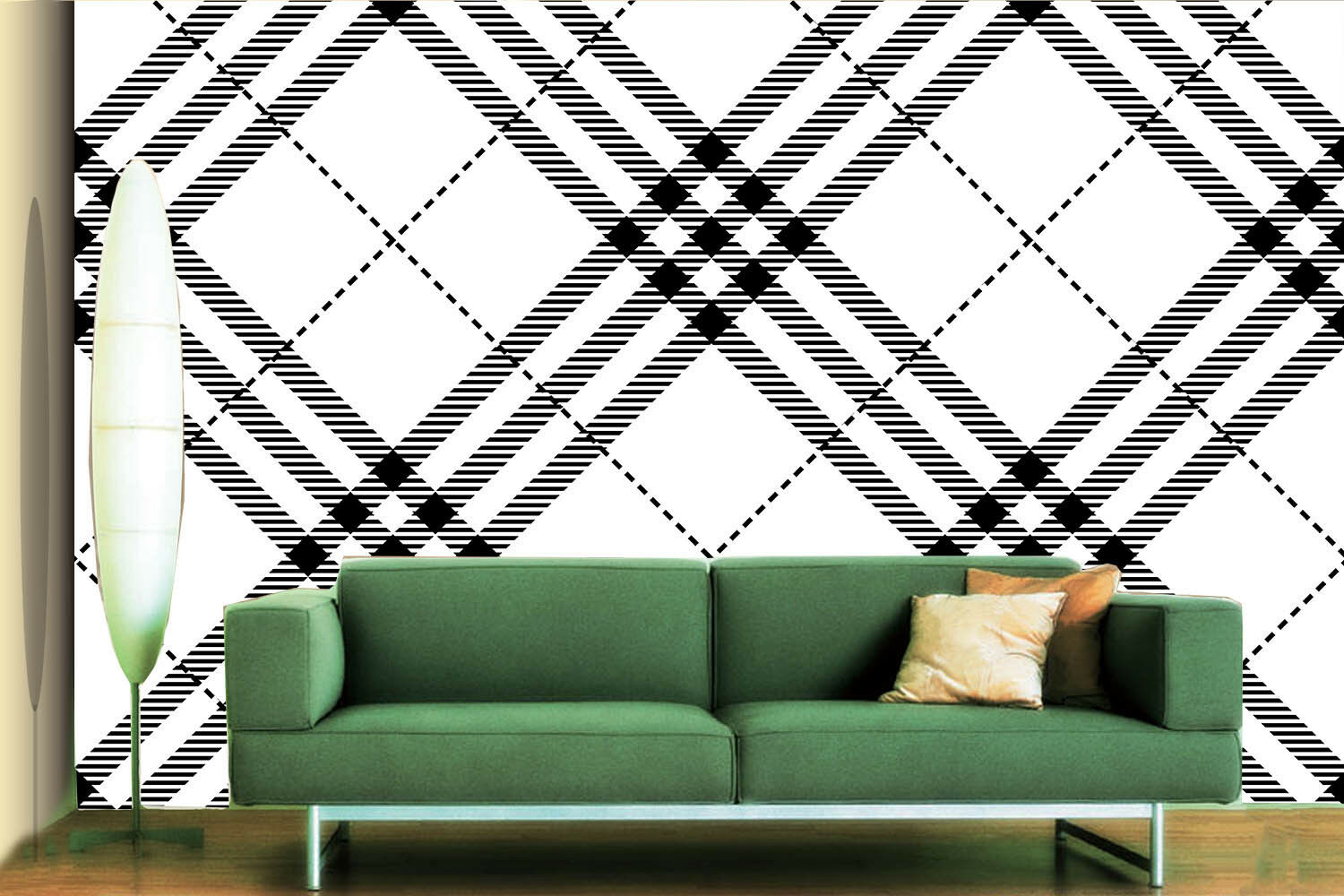 3D Grid Texture 722 Wallpaper Mural Paper Wall Print Wallpaper Murals UK Lemon