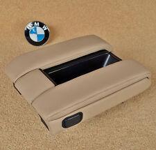Genuine BMW E38 7 SERIE 1994-2001 ANTERIORE Bracciolo Sand beige in pelle di stoccaggio vassoio