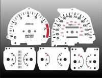 1988-1989 Honda Crx Dash Cluster White Face Gauges 88-89 Si