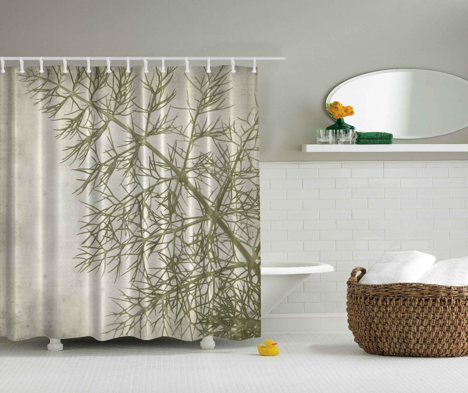 Sage Grun Fern Leaf Photograph Artwork Digital Shower Curtain Dad4c8
