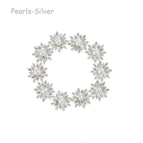 10Pcs Snowflake Crystal Rhinestone DIY Embellishments Flatback Buttons Decor US