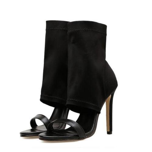 Sandales 11 Bottes D'été Perforé Cm Femme Cuir Bottines 1151 Comme Noir p1FaH