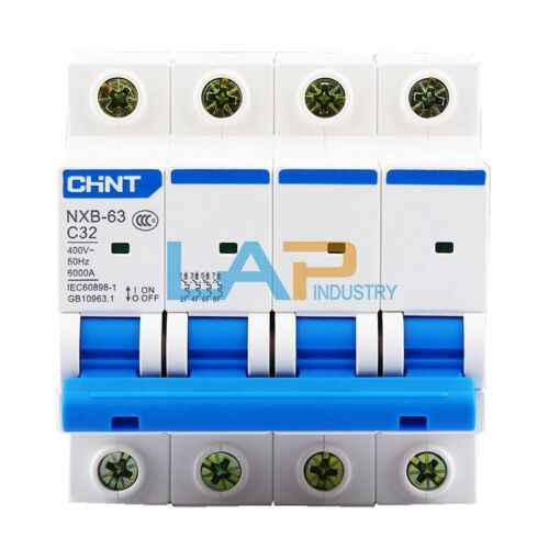 2Pcs For CHNT Circuit Breaker NXB-63 C32 4P 32A