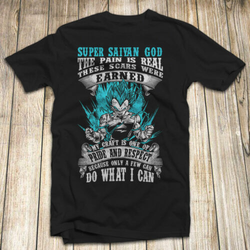 Dragon Ball Z Vegeta T Shirt S-5XL Made In USA Fan Apparel DBZ TV Fast Shipping