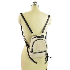 NWT MICHAEL Michael Kors Rhea Zip Sherling Mini Messenger Backpack ... cc83a9c5b3
