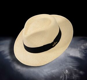 Details about Monticristi® Genuine Montecristi Panama Hat 12 Grade C CROWN  FEDORA on Sale