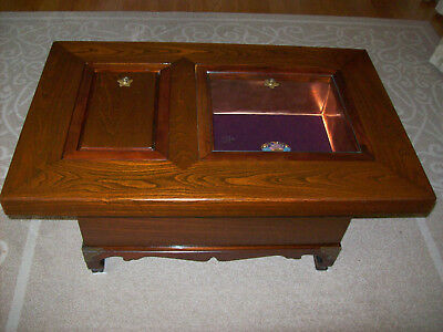 Japanese Coffee Table.Vintage Japanese Hibachi Style Rosewood Copper Coffee Table Pick Up Only No Ship Ebay