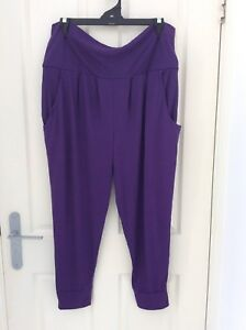 Zumba-Funky-Cropped-Harem-Pants-Size-XL-Purple