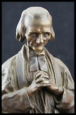 † 1905 ST JOHN MARY BAPTIST VIANNEY FULL BRONZE STATUE CURE OF ARS by VERMARE A.