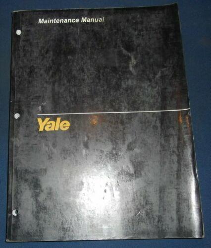 YALE SELECTOR 3000 HIGH LIFT FORKLIFT SERVICE MAINTENANCE REPAIR MANUAL 1528