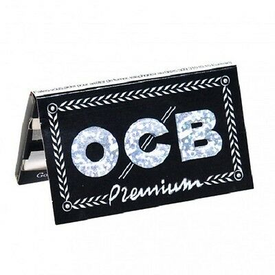 1//10//25//50 OCB Rolling Papers Premium Black DOUBLE 100 Sheets//Booklet pcs
