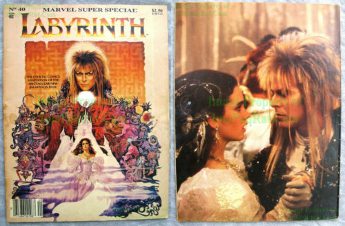 Marvel Super Special #40 Labyrinth VHTF David Bowie Movie Adaptation OK Copy