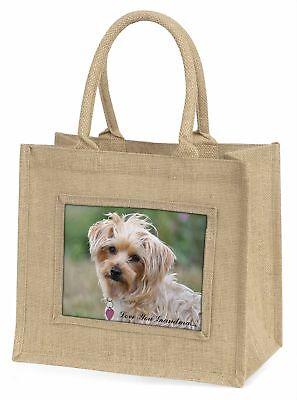 Yorkie Hund' liebe Dich Oma 'Große natürliche jute-einkaufstasche Chri