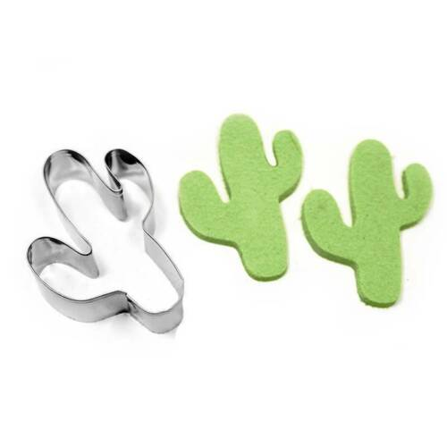 Stainless Steel Cookie Biscuit Cutters Cactus Shape Molds Diy Cake Mold