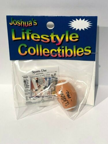 Joshua/'s Lifestyle Collectibles Miniature 1//12 scale Football /& Newspaper NIB
