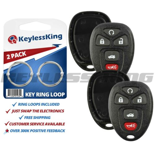 2 New Replacement Keyless Entry Remote Key Fob Shell Case Pad Fix for 22733524