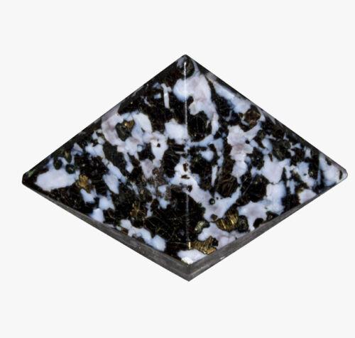 Serpentine Tourmaline Reiki Healing Gemstone Pyramid Energy Generator 1.5 Inch
