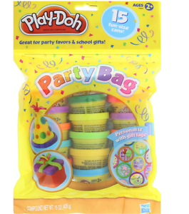 NEW PLAY DOH PARTY BAG 15 CANS GIFT TAGS CHILDREN MODELING CREATIVE COLOURED TOY