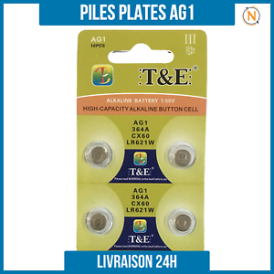 Piles-Plate-bouton-1-5V-Alcaline-AG1-0-Mercure